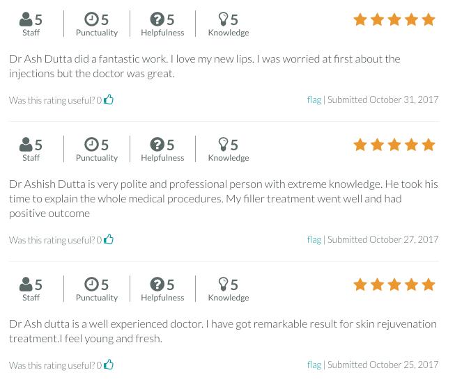 Dr Ash Dutta Reviews on RateMDs